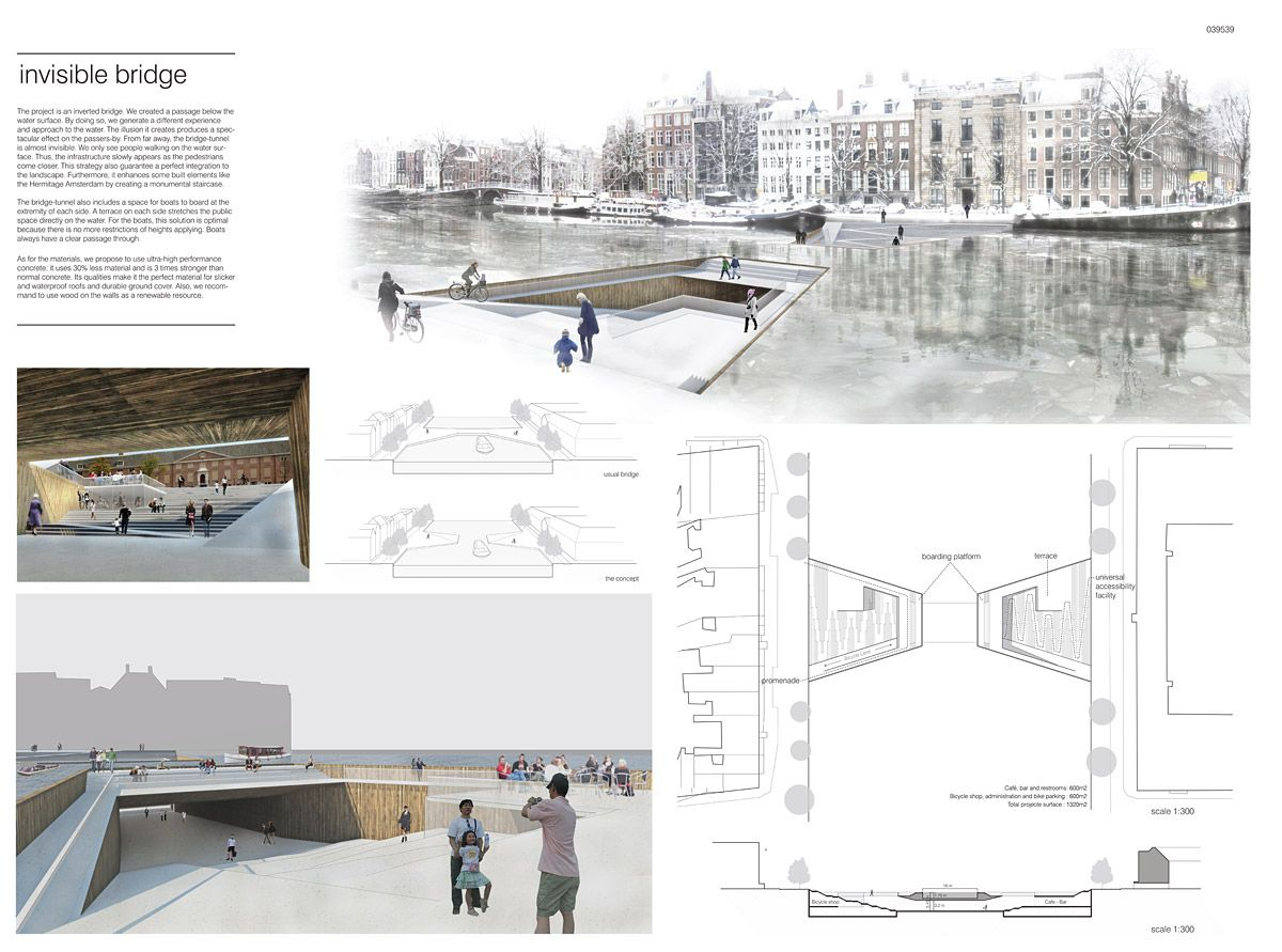 Bustler: Winners of the Amsterdam Iconic Pedestrian Bridge Competition