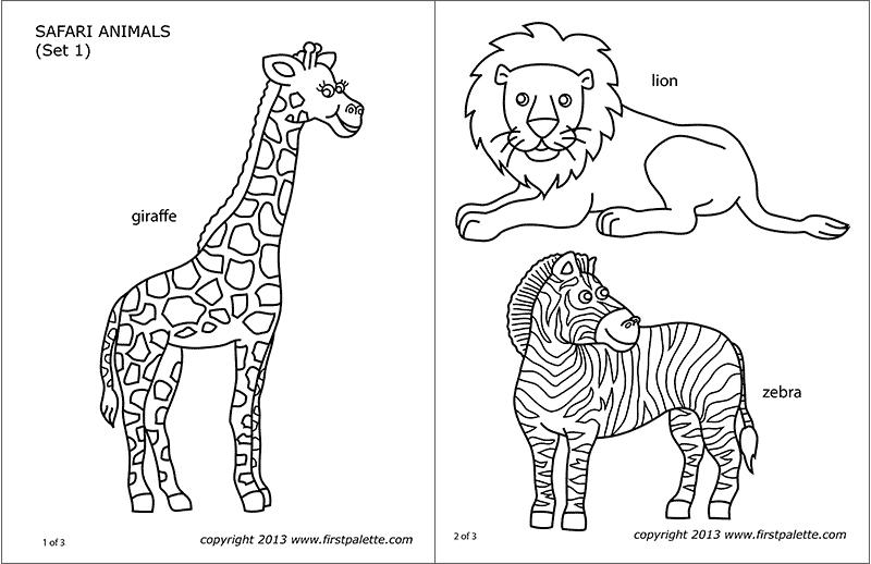 Amazon Jungle Or Rainforest Animals Free Printable Templates Coloring Pages Firstpalette Com African Savanna Animals Diorama Kids Savanna Animals