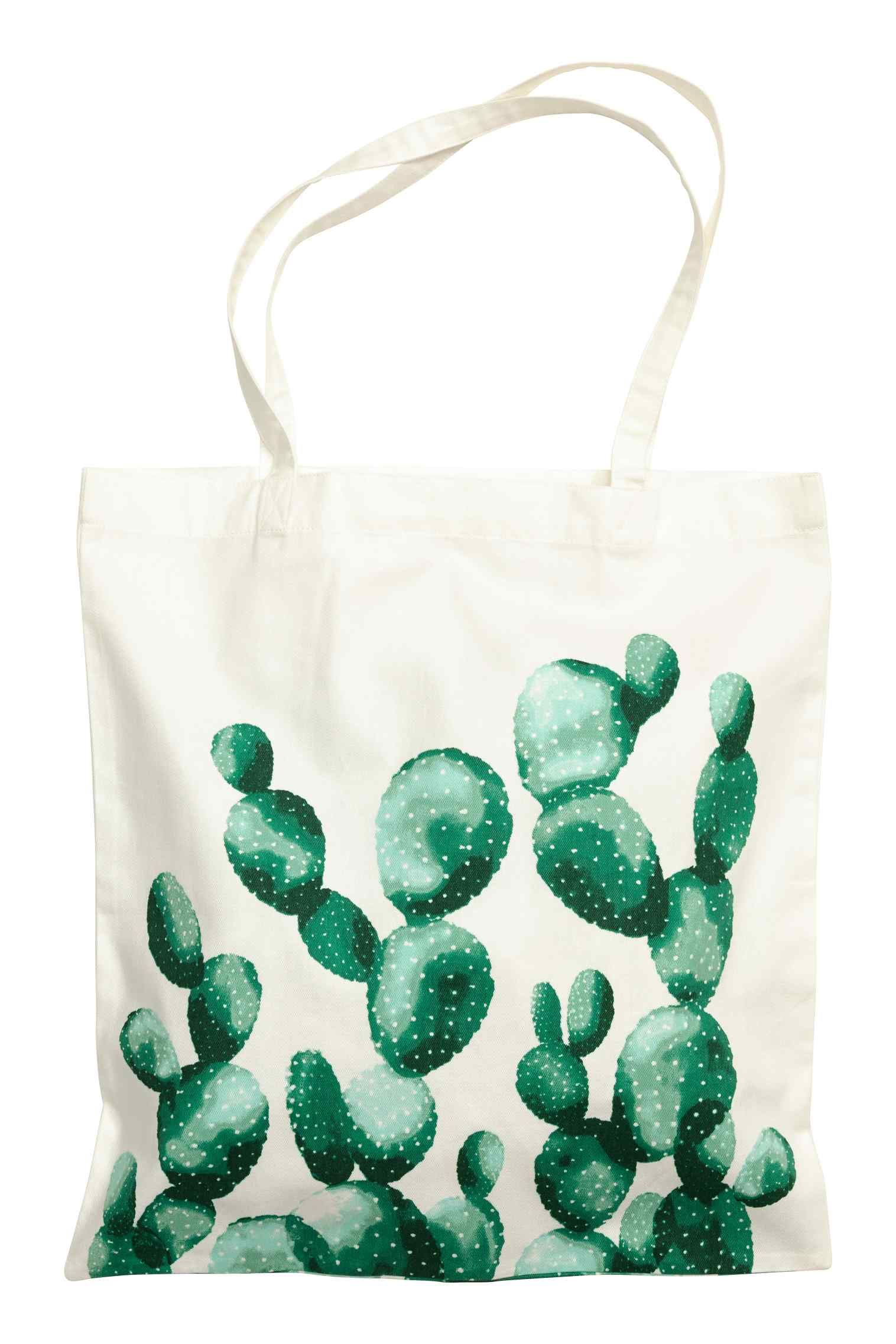 Lovely tote with a watercolor cactus.  7785ea6f4e