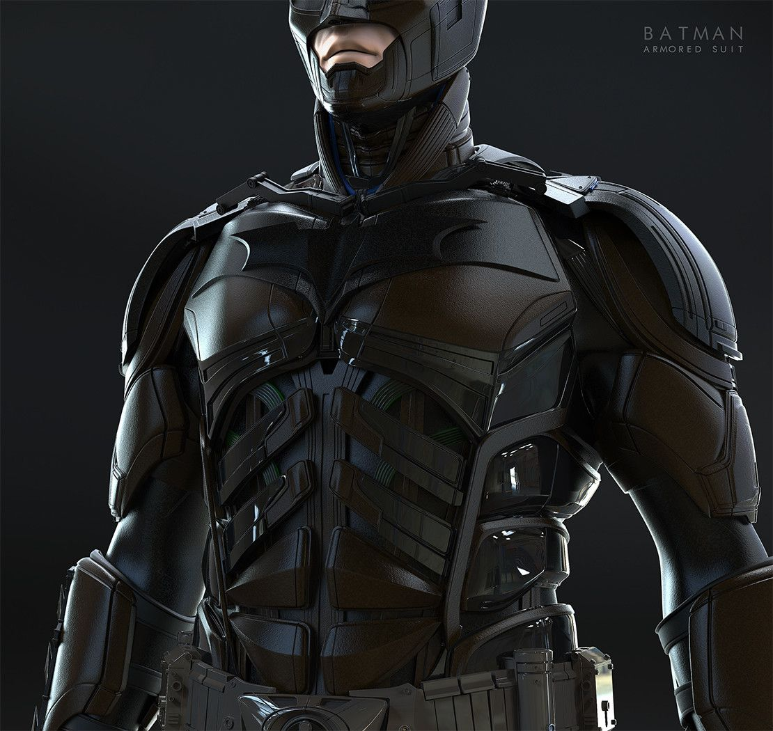 The dark knight armored suit (\