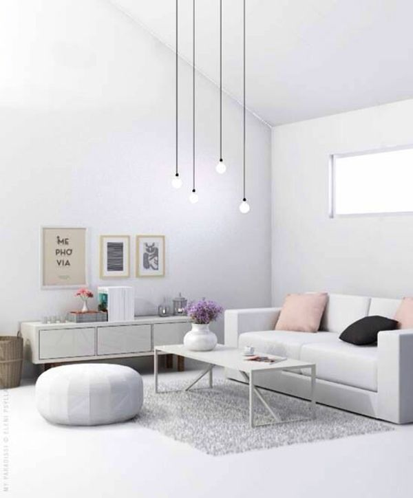 50 helle wohnzimmereinrichtung ideen im urbanen stil | living, Wohnzimmer dekoo