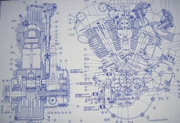 F B D E A Cb E D E B on Knucklehead Engine Drawings