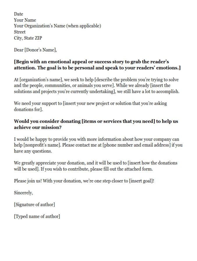 donation request letters asking for donations made easy pertaining - sample donation request form