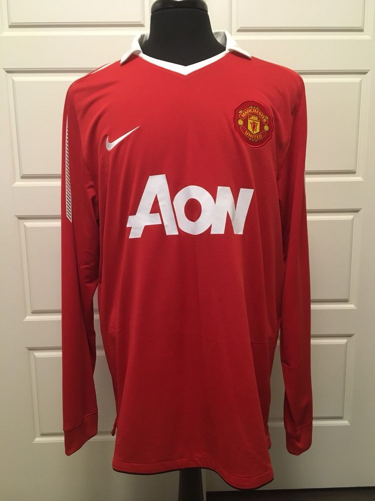 Aon Manchester United Nike Long Sleeve Red Jersey Shirt Size Xl Nike Manchesterunited Soccer Jersey Fashion Sports Jersey