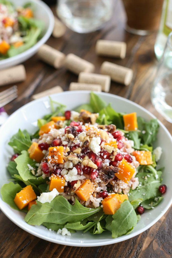 Roasted Squash and Wild Rice Salad for #SundaySupper #GalloFamily
