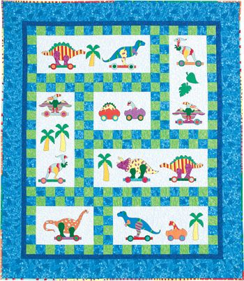 Dinosaur quilt pattern by The Country Quilter | Baby Quilts ... : dinosaur baby quilt - Adamdwight.com