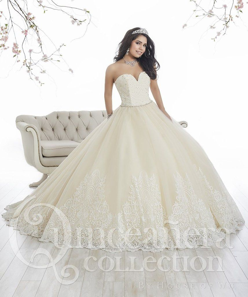 15243f8dd2d House of Wu 26844 Glimmering Tulle Quinceanera Dress in 2019