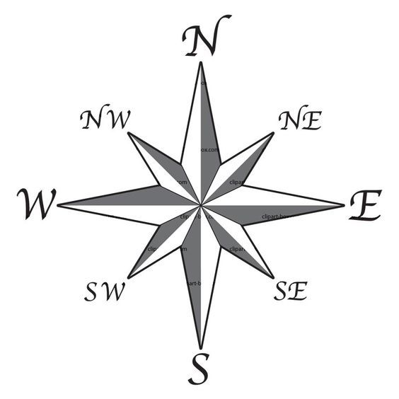 Free Clip Art Compass Rose Line Drawing 2 Childrens Furniture