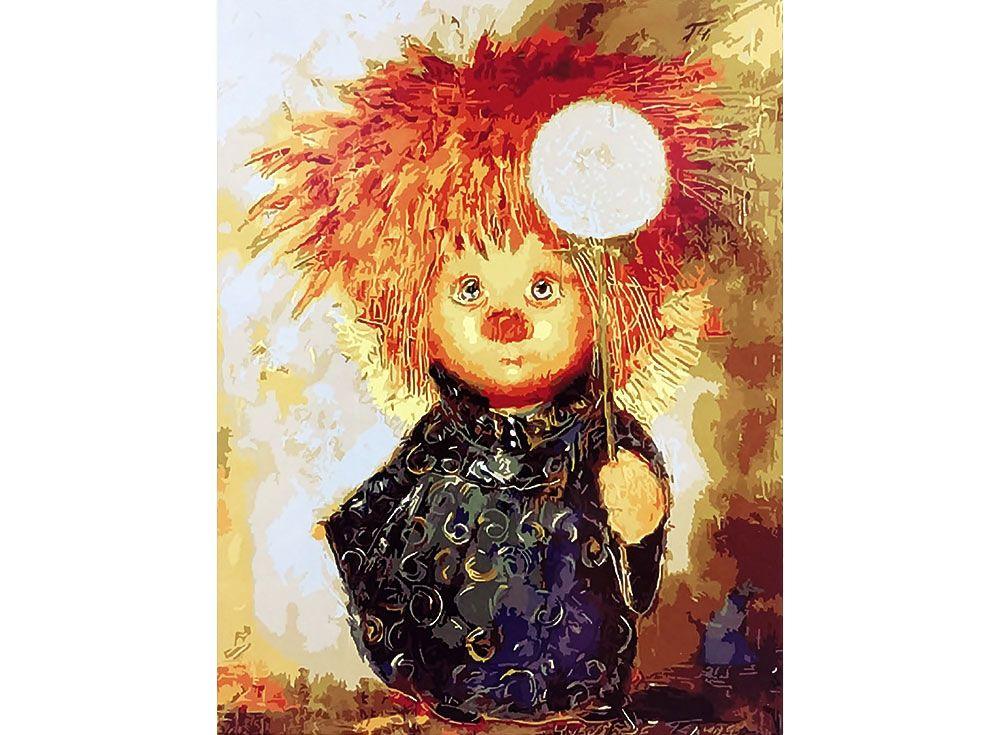 Картина по номерам «Рыжий ангелочек»   Картины, Раскраска ...