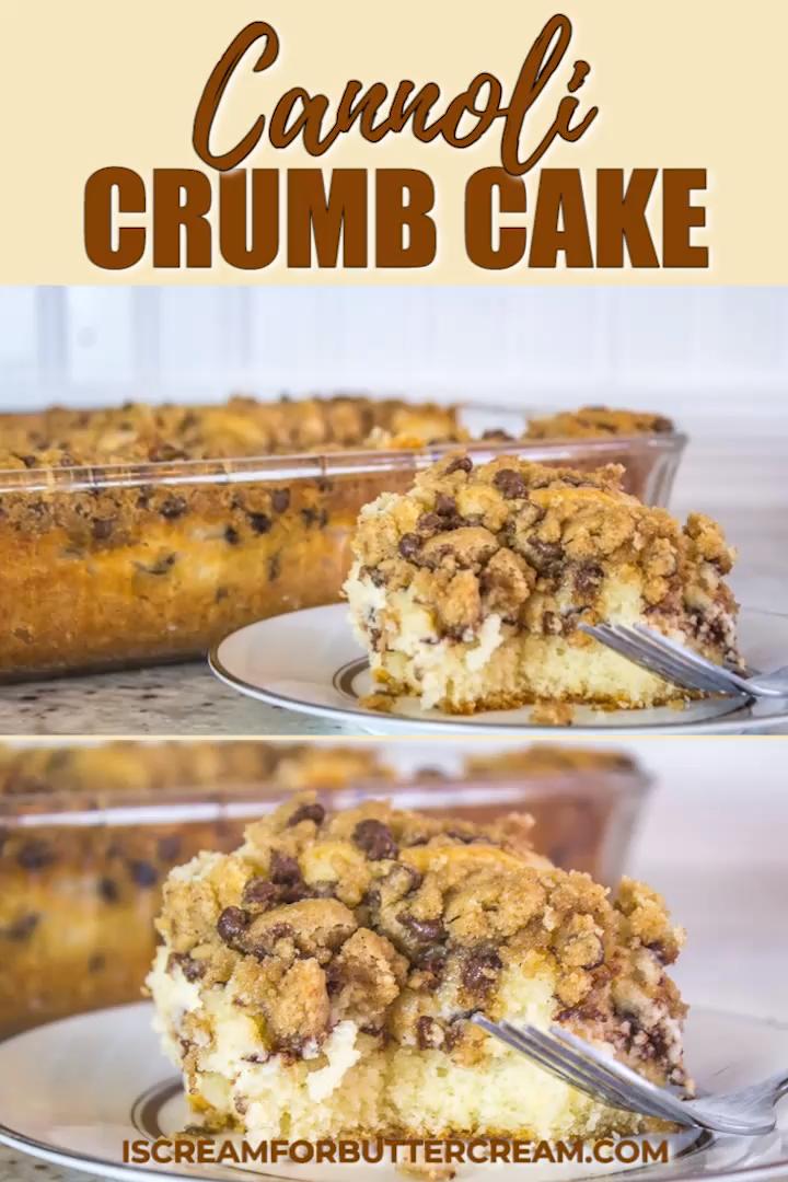Cannoli Crumb Cake - #cannoli #crumb - #MiniCheesecakeRecipes