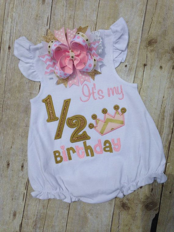Pink And Gold 1 2 Birthday Shirt By TwoSewinCute