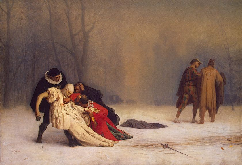 Duel After a Masquerade Ball -  Jean Leon