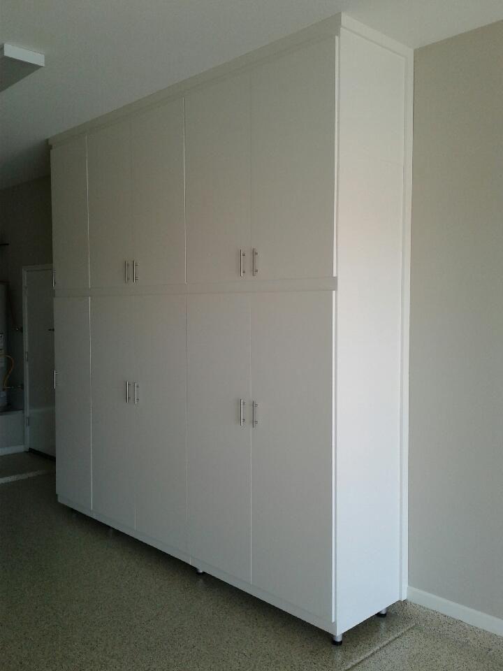 Garage Cabinets, White Wood Garage Storage Cabinets