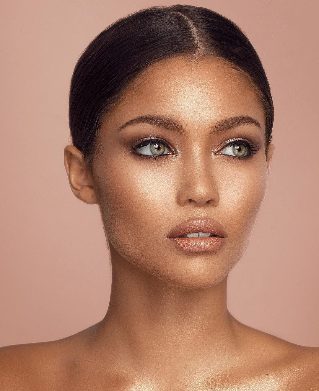 audreyana michel ft. photoshop | tan skin makeup, tanned