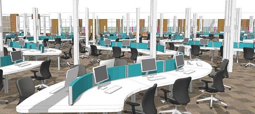 Call center office layout image search office for Modern office design layout