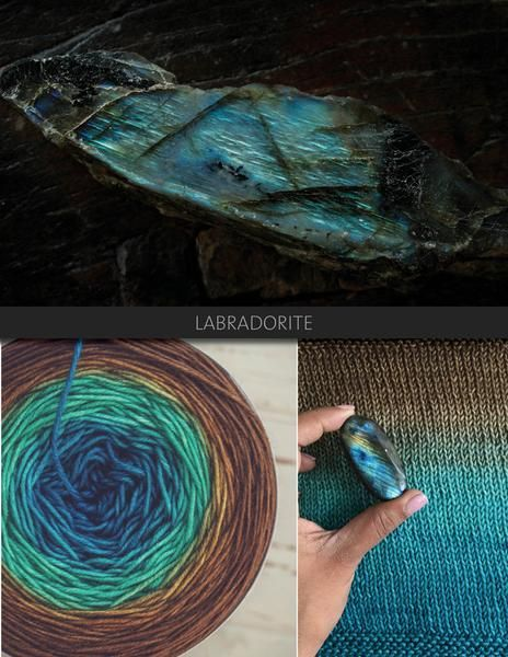 Labradorite is a saturated colourway, transitioning from ocean blue, to turquoise, to deep brown. The Blue Brick Ombré series is a collection of long-run gradient yarns, hand dyed to match photography, and objects from the natural world. This skein will ship with the photograph used as the main product image. Ombré yarns may be ordered in any of the bases listed below. Please note that these yarns are dyed-to-order, and that, from dyeing to delivery may take up to three weeks.…