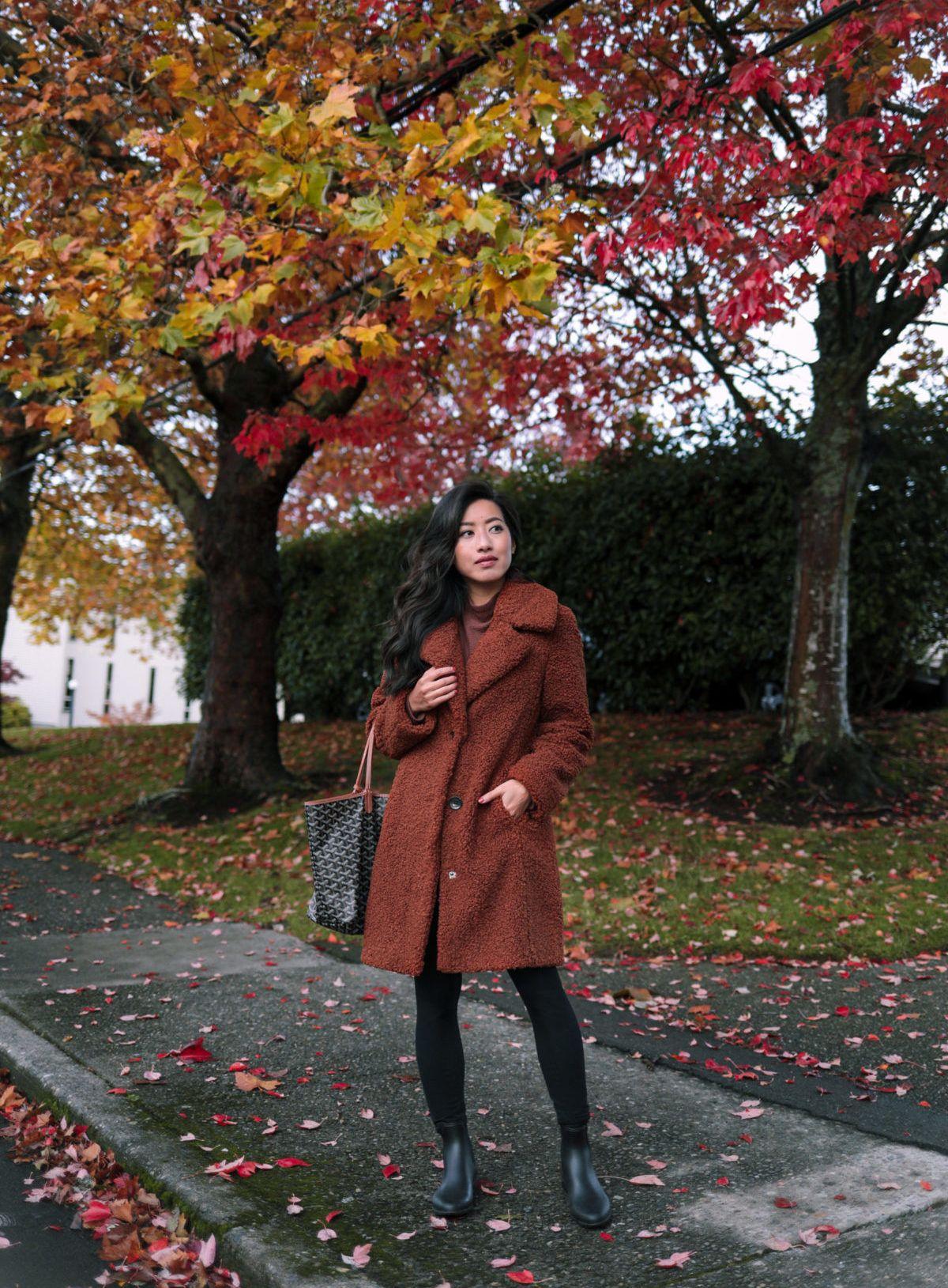fall jacket tryons // Extra Petite reviews Chelsea rain