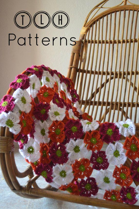 Crochet baby blanket pattern crochet afghan pattern crochet | Blumen ...