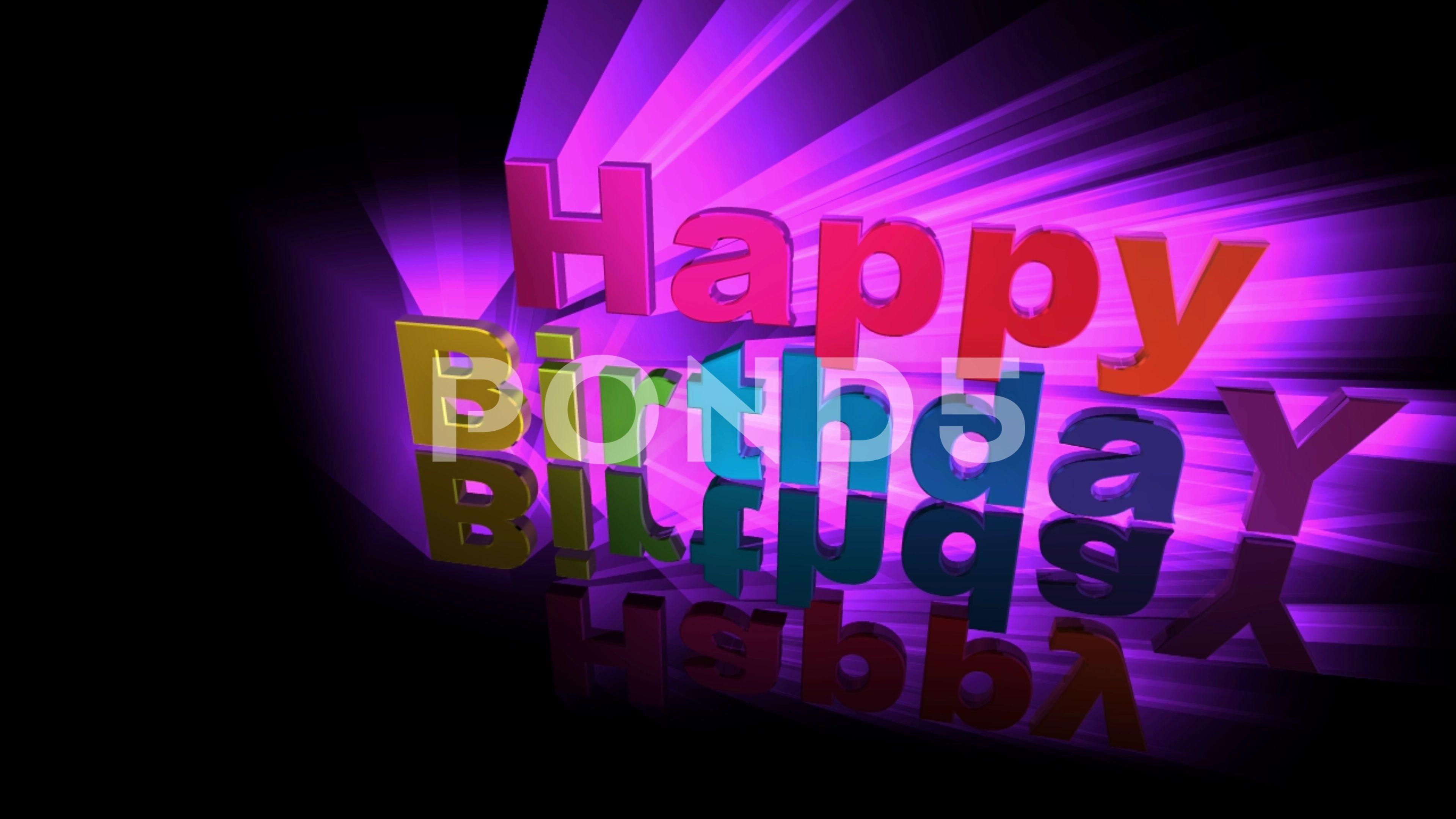 Happy Birthday Title Animation 3d 4k 49 Stock Footage Ad Title Birthday Happy Animation Title Animation Happy Birthday Birthday Diy