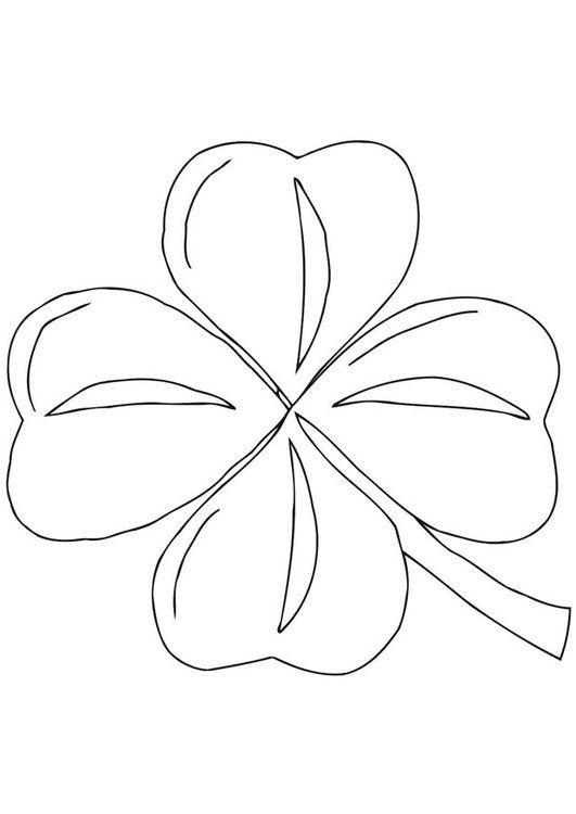 Dibujo Para Colorear Trebol Irlandes Shamrock Trebol Patrones De Abalorios Gratis Dibujos Para Colorear