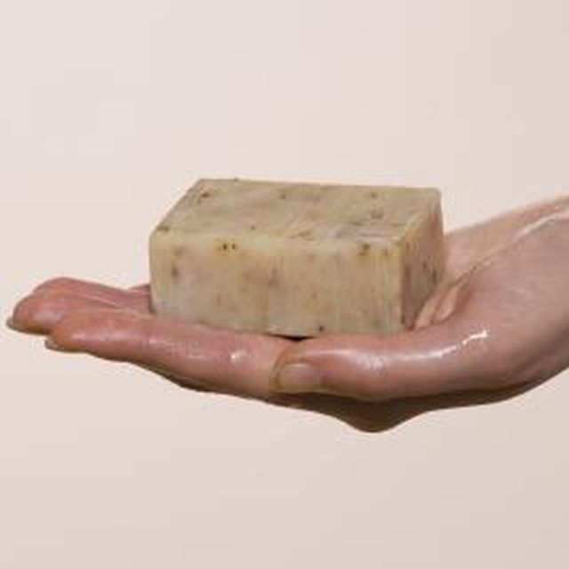 Homemade soap uses natural ingredients that are gentle on delicate skin.
