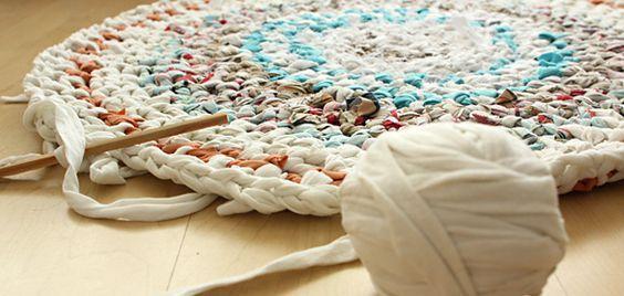 Aus Alt wird Neu: Teppich aus alten T-Shirts, Bettlaken und mehr ...