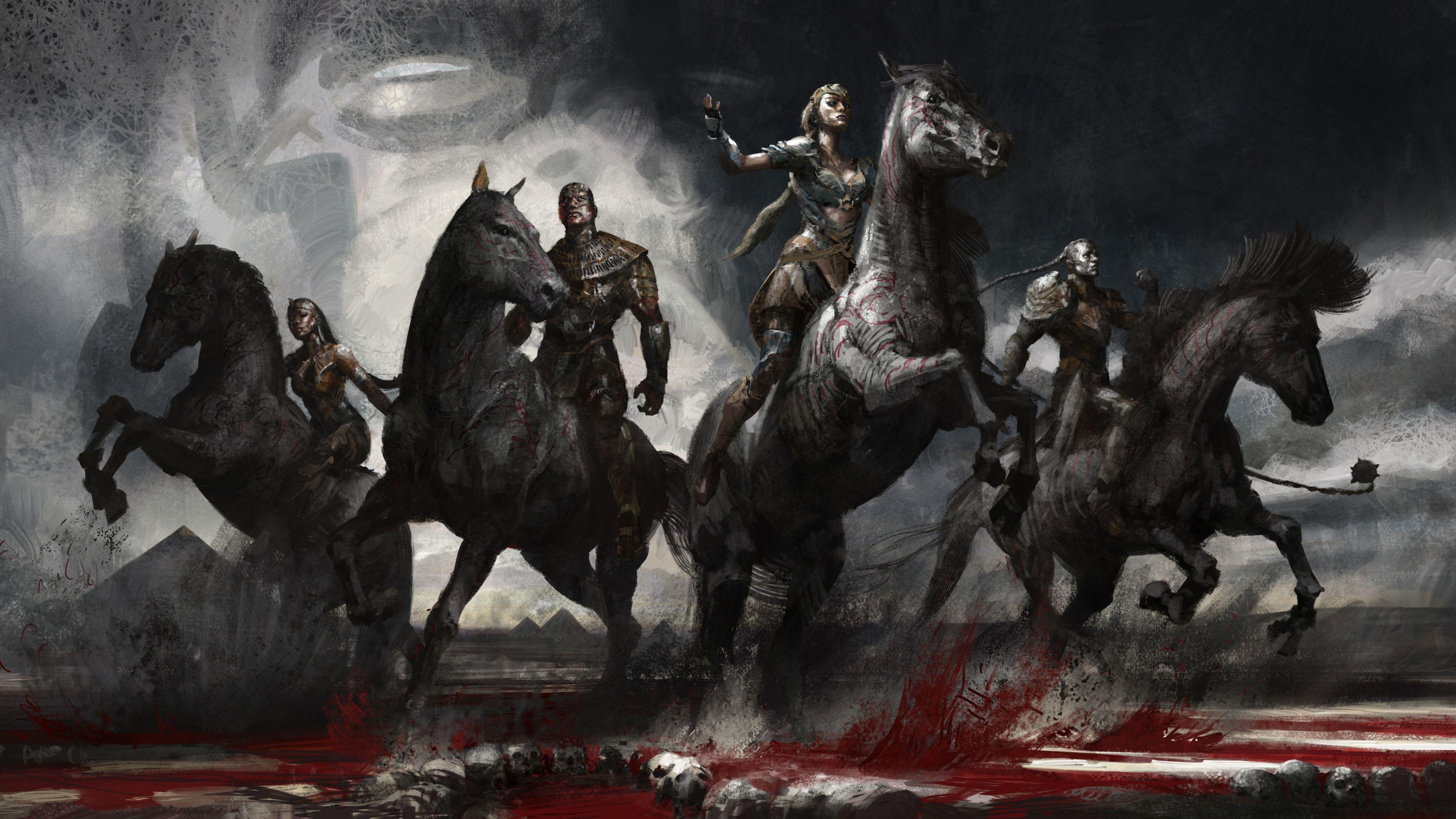 X Men Apocalypse Ancient Horsemen 4k X Men Apocalypse Wallpapers Horse Wallpapers Hd Wallpapers Digital Art Wallpapers D Horse Wallpaper Dark Wallpaper Art