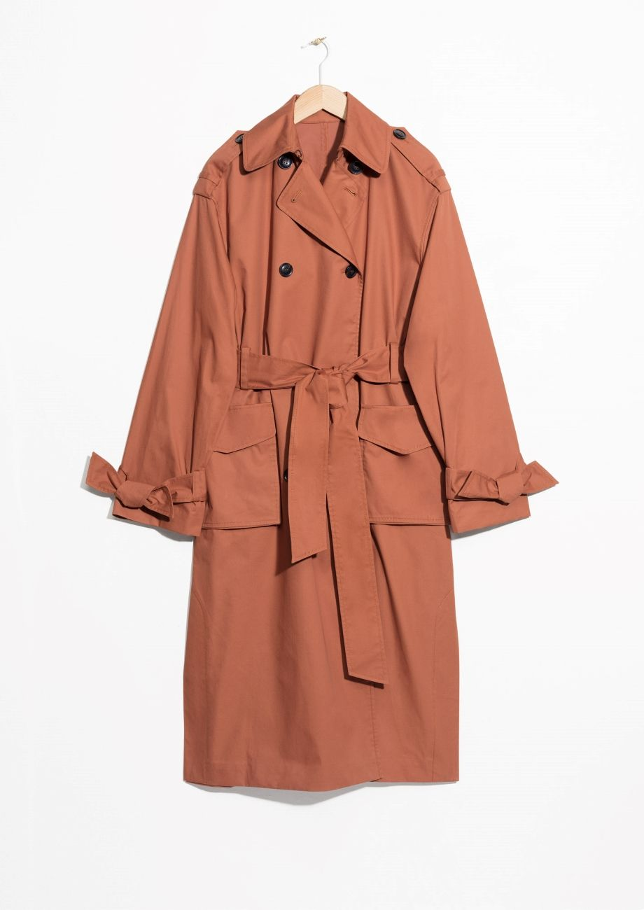 14f711c5568 & Other Stories image 2 of Belted Oversized Trenchcoat in Rust ...