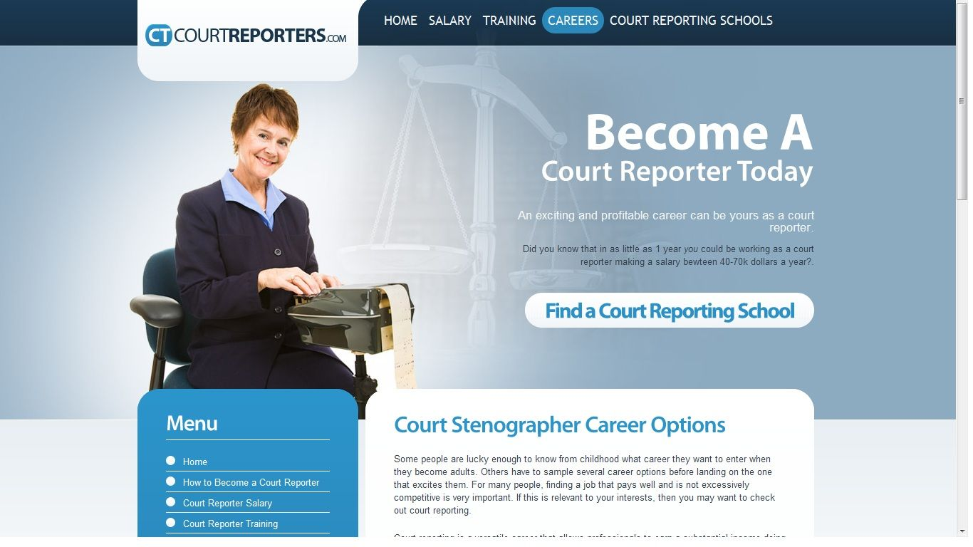 A court reporter is a person that records events as they
