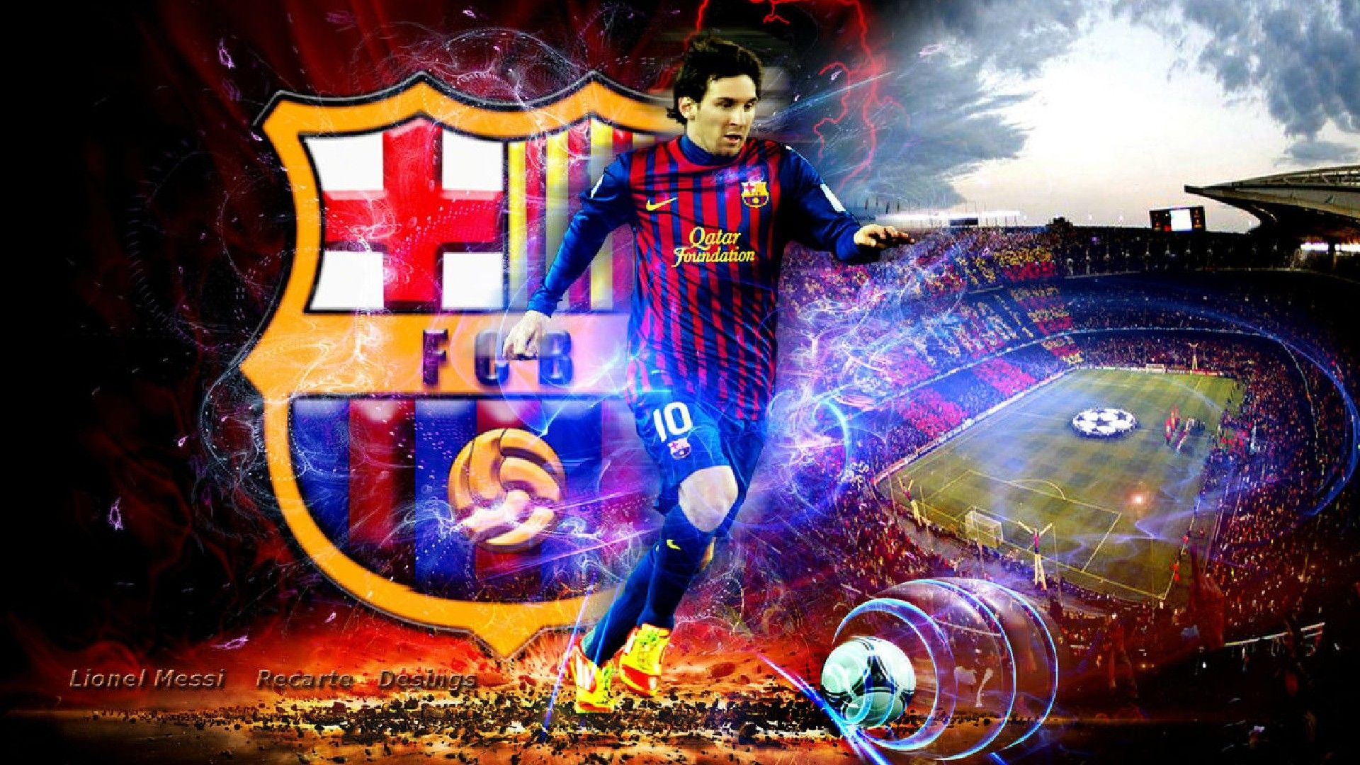 футбол 1 Wallpaper: Lionel Messi Wallpapers High Quality Download Free 1280