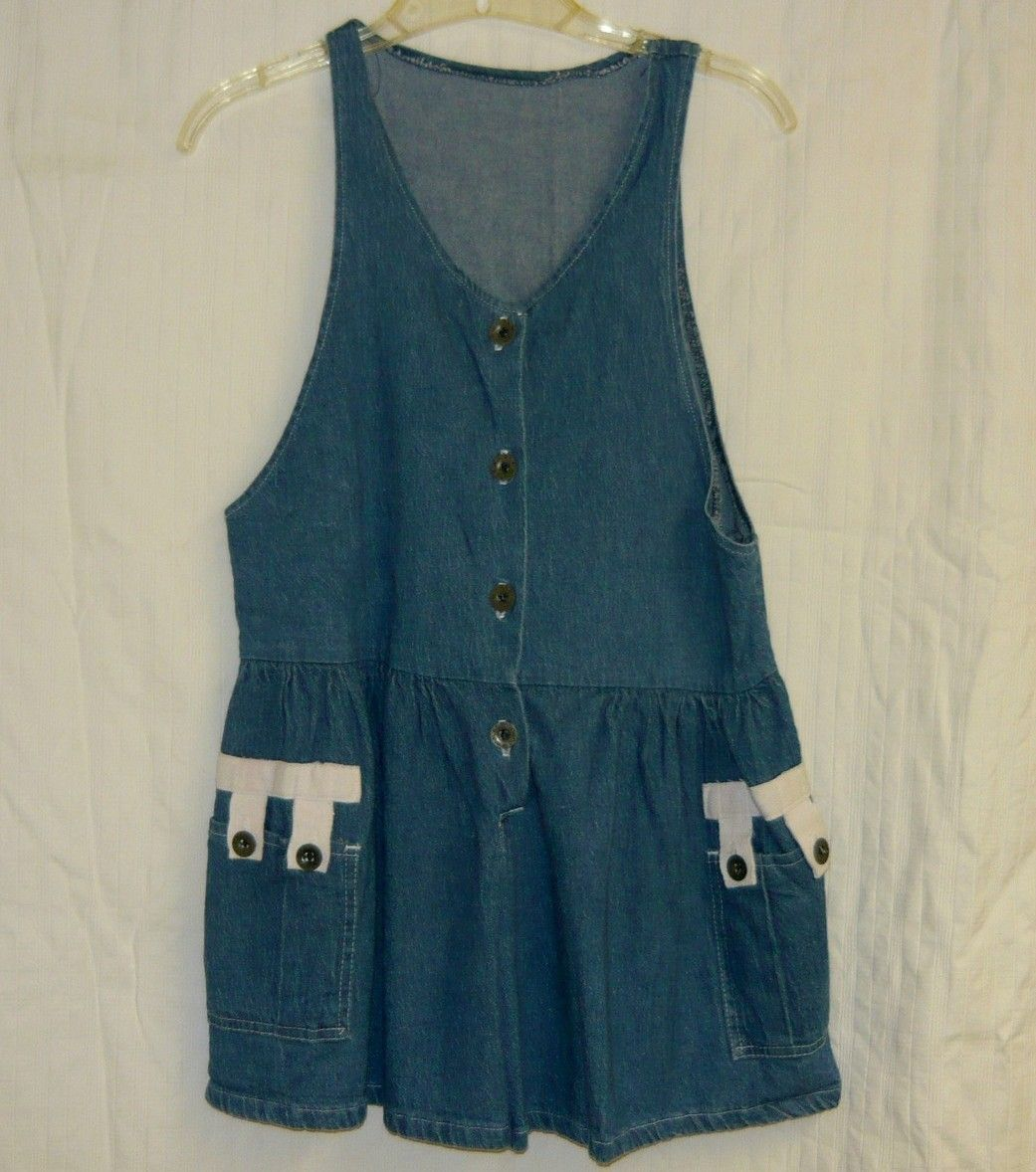 SALE~VINTAGE Denim Playsuit Sz. M