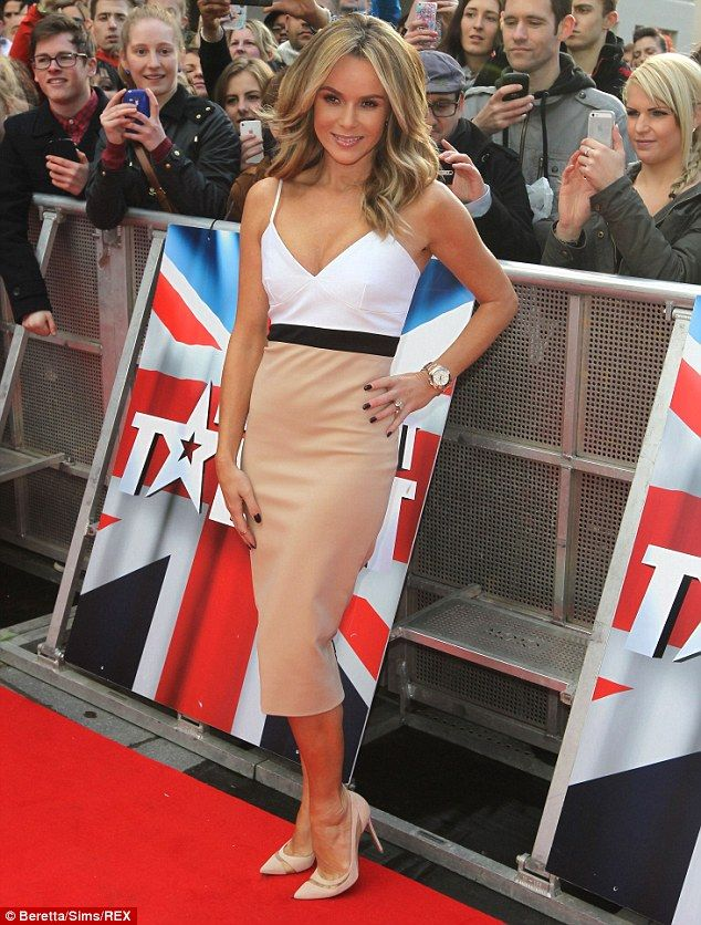 Tough times: The Britain's Got Talent judge has revealed she was diagnosed with post-traumatic stress syndrome following the birth of her se...
