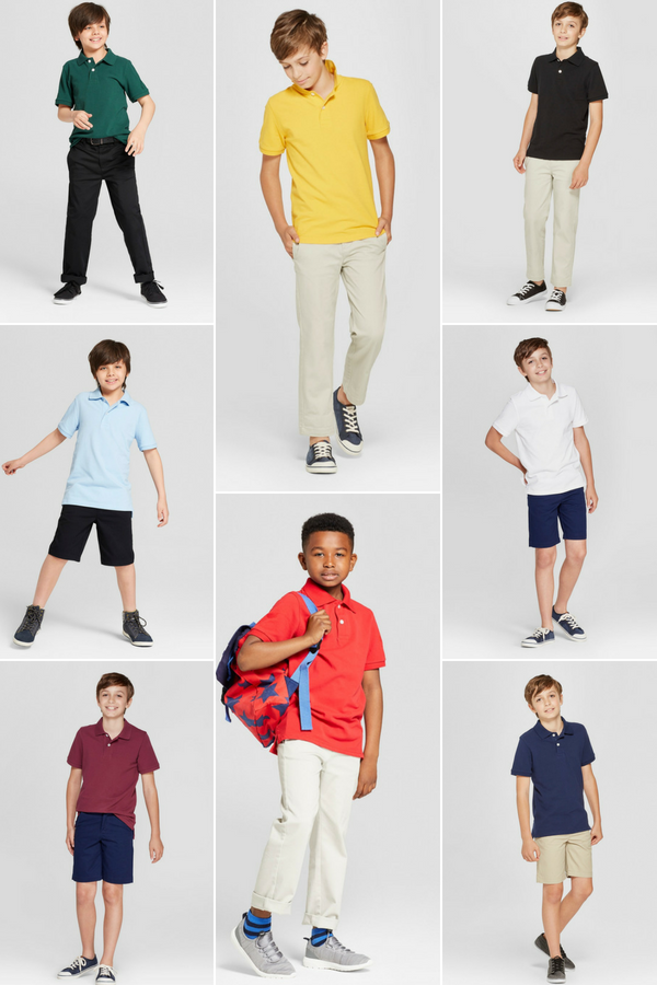 f6873f7ed Back To School Boys' Short Sleeve Pique Uniform Polo Shirt from Cat & Jack  - Perfect for casual wear or an outfit for a special occasion, can pair  this ...