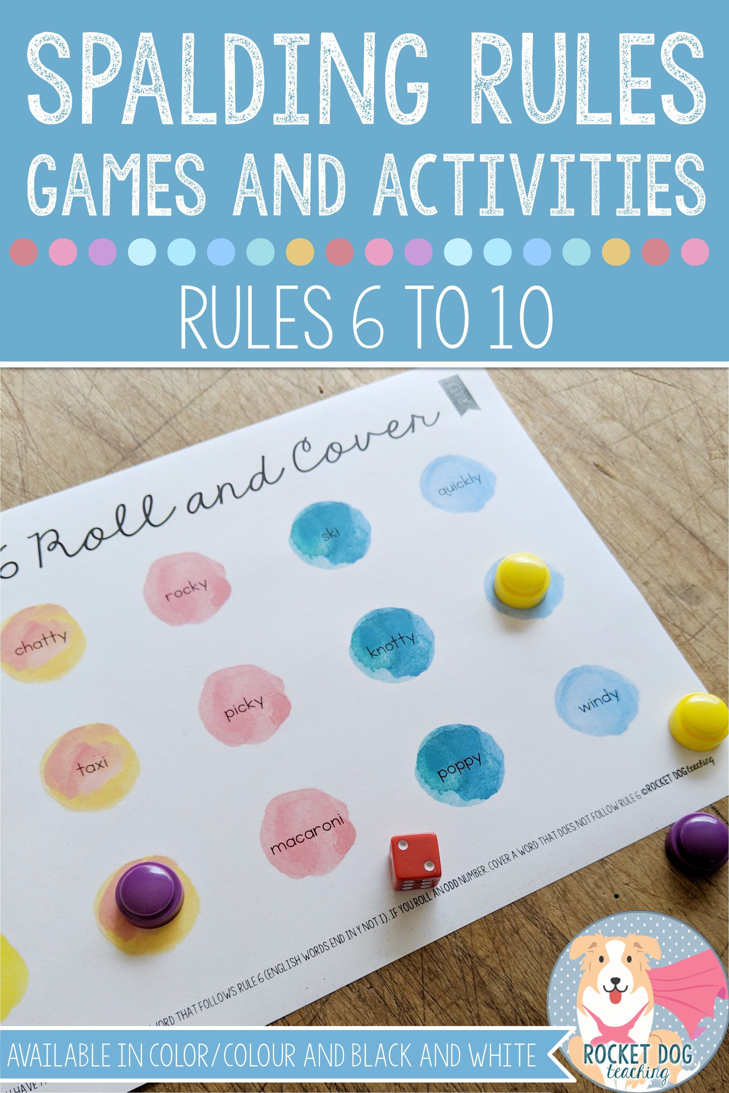 Spelling Rules Games And Activities Rules 6 To 10 For