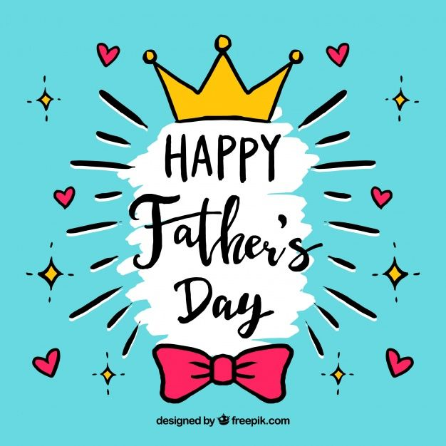 Download Happy Fathers Day Background In Hand Drawn Style for free