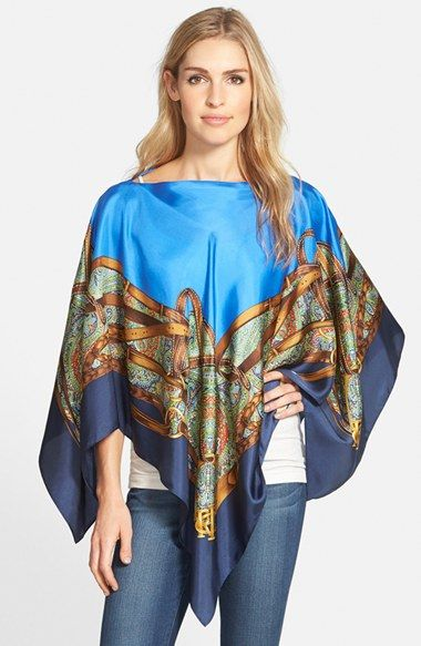 f54280af1a57e Lauren Ralph Lauren Silk Poncho available at #Nordstrom | Personal ...