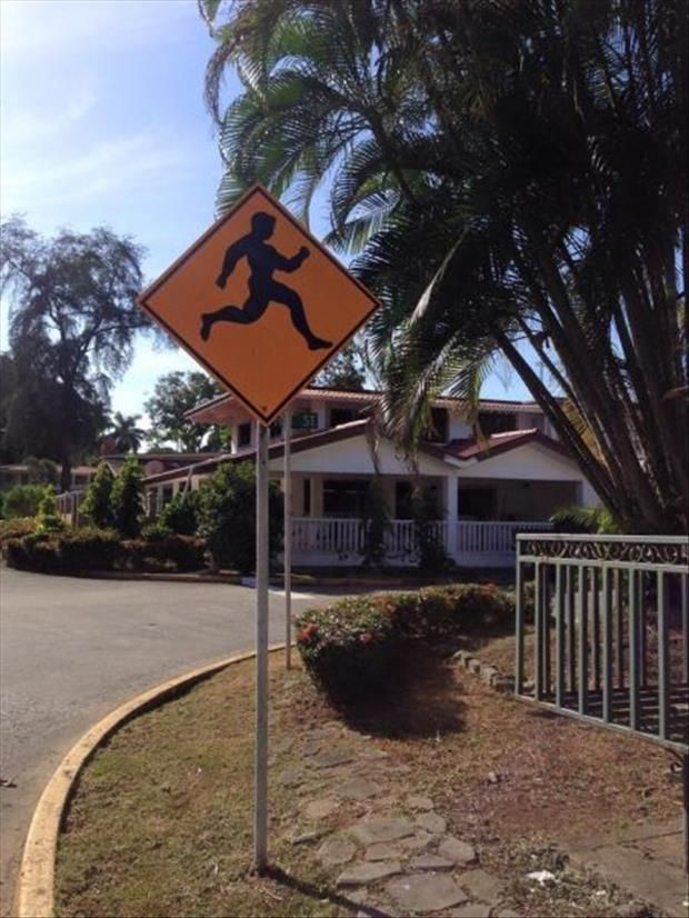 Chuck Norris crossing.