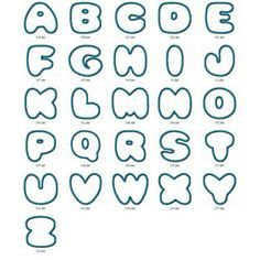Free Fancy Bubble Letters A Z To Draw