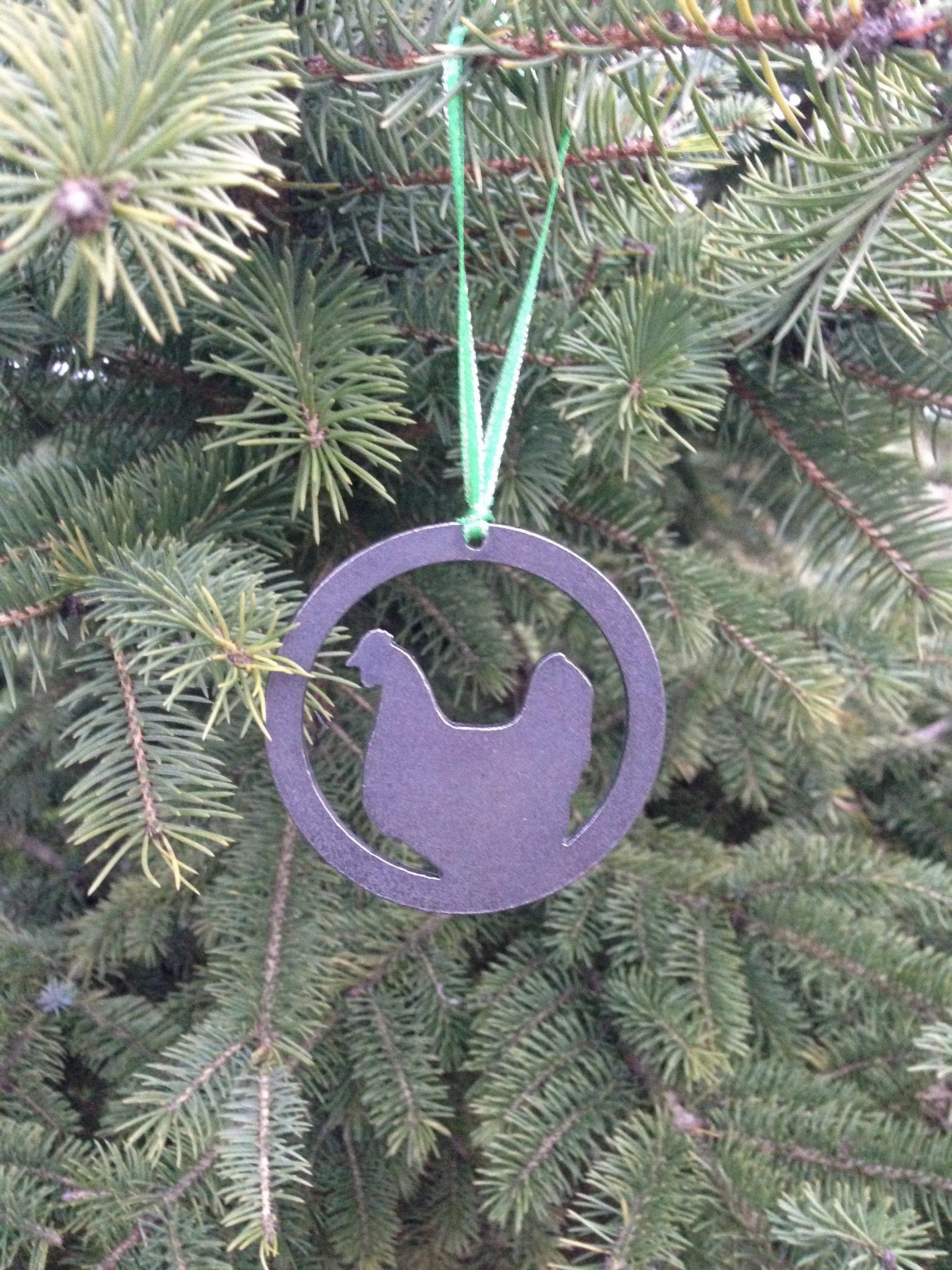 Chicken Christmas Metal Ornament (With images) Metal