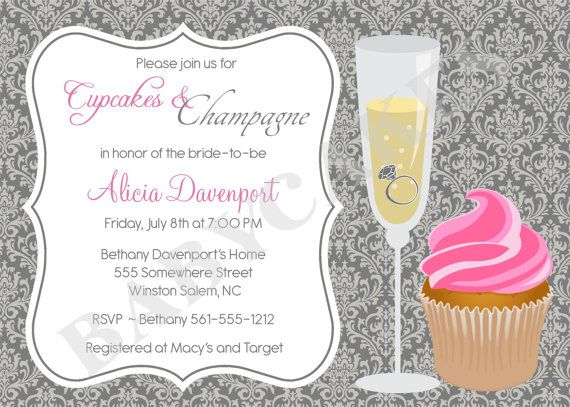 cupcakes and champagne bridal shower invitation by jcbabycakes 1100