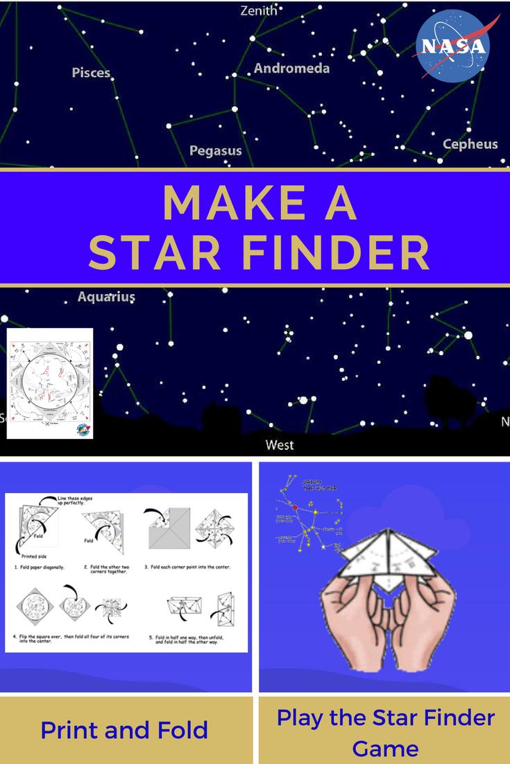 Make a Star Finder -- Fold a printable sky map like a paper