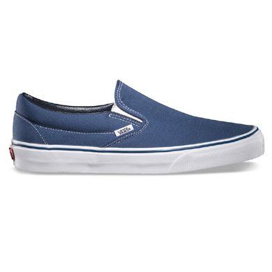 eabd5bf850 Vans VN-0EYENVY Classic Slip On Navy Shoe   54.99 ! Buy now at GetShoes.ca