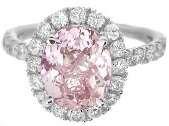 light pink sapphire wedding rings the wedding specialists - Pink Wedding Rings