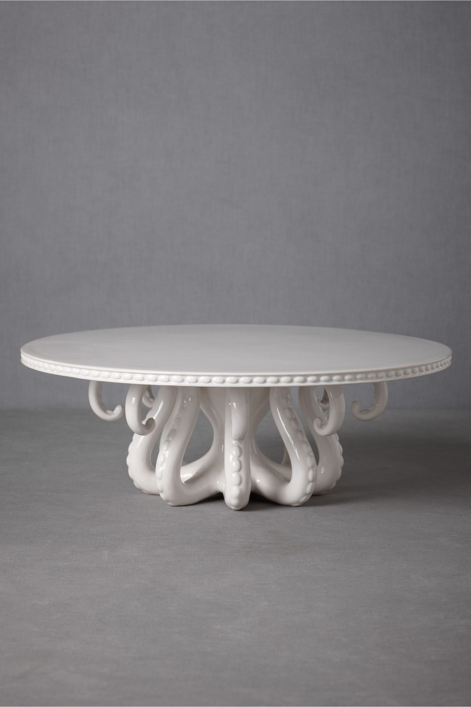Tentacled cake stand   BHLDN (If only I had $248 in my pocket, @Erin McReynolds Davis would be getting this...)