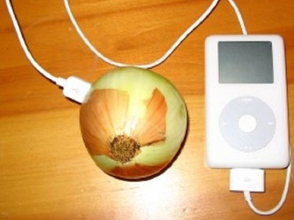 Help your students understand how protons are the positively charged particles and electrons are the negativley charged particles by charging their own iPod with an onion...good to know for when powers out too!!