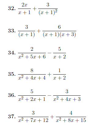 Adding and subtracting algebraic fractions: A worksheet on ...