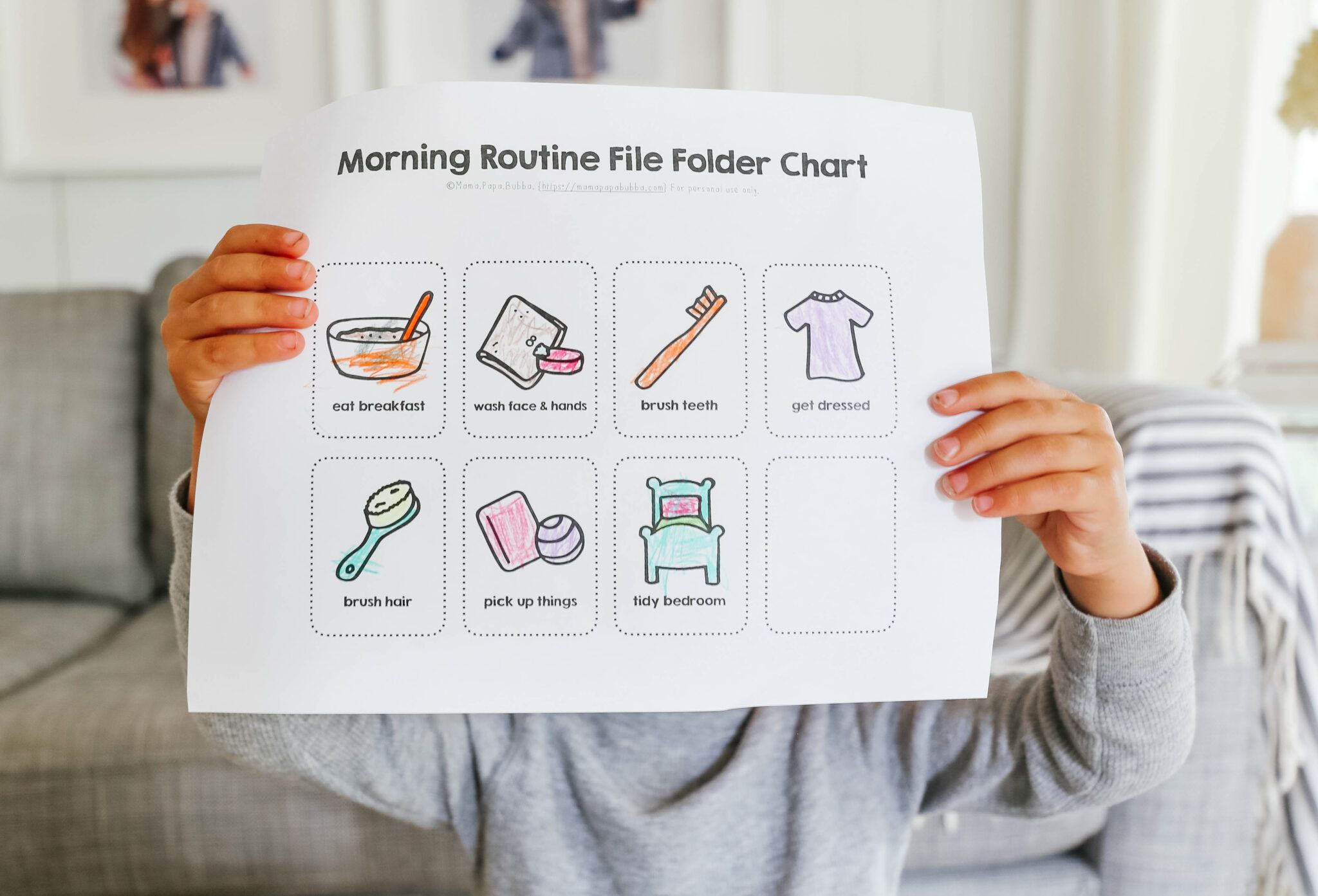 Morning Routine Flip Chart In