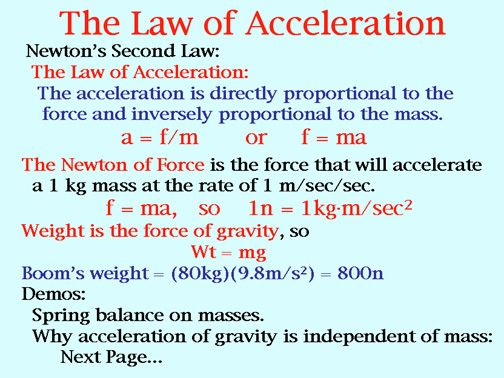This Image Shows The Different Laws Of Acceleration Discovered By