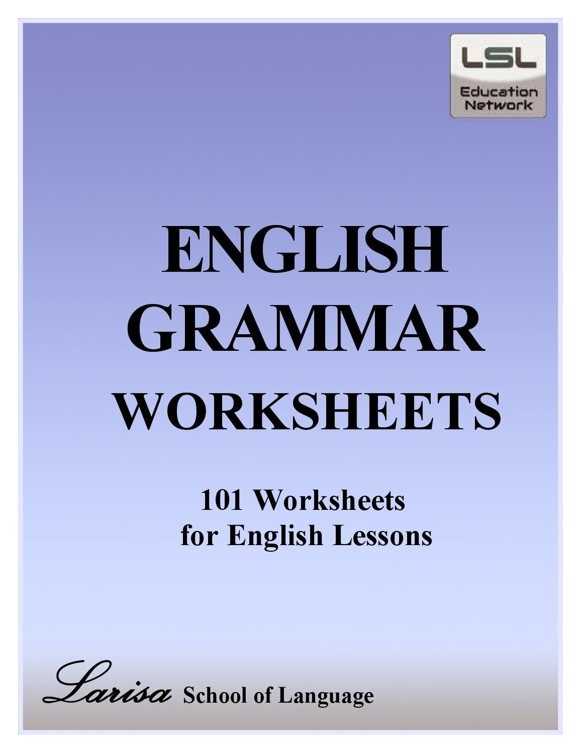 101 English Grammar Worksheets For English Learners
