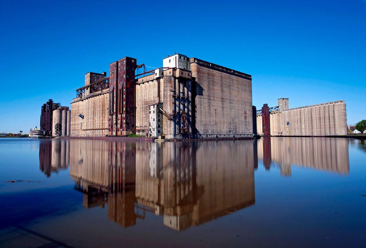 Grain silo in silo city buffalo new york countries of